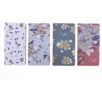 4pcs Student's Notebook Portable Retro Flower Notebook Notepad Student Stationery Home Office Supplies Student Notebooks Gift